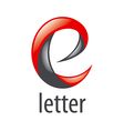 abstract red and black logo letter E vector image