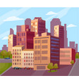 beautiful view of the modern city vector image vector image