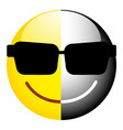 black and white smiley the symbol of duality vector image vector image