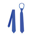 blue tie vector image vector image