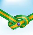 brazil ribbon flag on background vector image