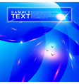 Bright blue abstract background vector image vector image