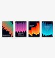 brochure design with trendy neon gradients vector image vector image