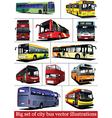 bus collection vector image vector image