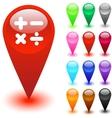Calculate button vector image vector image