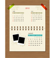 calendar2012 august vector image vector image