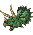 Cartoon of angry triceratops isolated vector image vector image