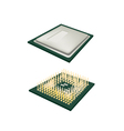 Central Processing Unit Chips on white Background vector image