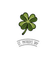 clover decorations for holiday of patricks vector image