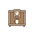 coffee machine concept brown icon vector image