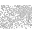 coloring page abstract pattern maze of ornaments vector image