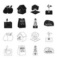company ecology and other web icon in black vector image