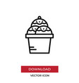 cream icon in modern style for web site and vector image