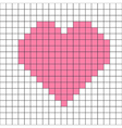 cross-stitch heart pattern vector image vector image