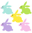 easter bunnies with bunny patterns vector image vector image