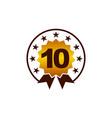 emblem best quality number 10 vector image vector image