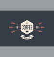 emblem cafe with arrows vector image vector image