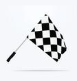 finish line flag vector image