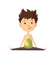 fitness sport boy posing and making gymnastic vector image vector image