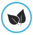 Flora Plant Flat Rounded Icon vector image