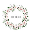 floral frame with place for your text can vector image vector image
