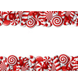 frame made red and white candies vector image vector image