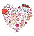 Gift Ideas for girl in heart shape vector image vector image
