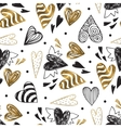 golden seamless pattern with image tribal vector image