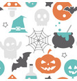 halloween holiday seamless pattern vector image vector image