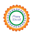 Happy Diwali Indian Festival of Lights Diwali vector image