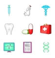 Healing icons set cartoon style vector image vector image