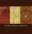 herbs and medicinal plants seamless patterns vector image vector image