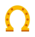 horseshoe luck isolated icon vector image
