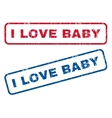 I Love Baby Rubber Stamps vector image vector image