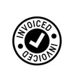 invoiced typographic stamp vector image
