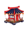 japanese house with roof tiles vector image vector image