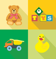 Kids toys icons set in outlines Digital image vector image vector image