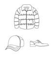 man and clothing symbol vector image
