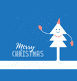 merry christmas poster design with dressy smiling vector image