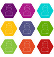 painter icons set 9 vector image