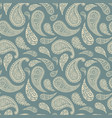 paisley pattern background green floral ornament vector image vector image
