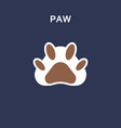 paw line icon sticker vector image