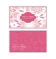 pink abstract flowers horizontal frame pattern vector image vector image