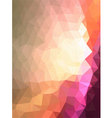 Pink triangle cave with line texture vector image