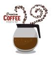 pot coffee hot beans premium graphic vector image vector image