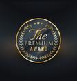 premium award golden label design vector image vector image