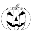 Pumpkin lantern icon in outline style isolated on vector image vector image