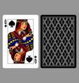 queen of spades playing card and the backside vector image vector image
