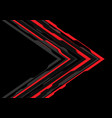 red grey arrow futuristic direction on black vector image vector image
