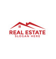 red real estate house logo icon design template vector image vector image
